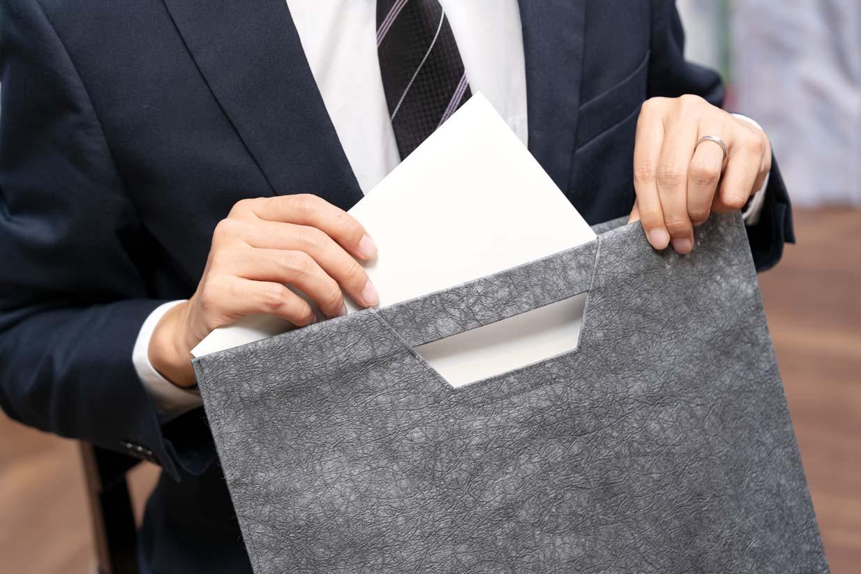 和紙の書類バッグ